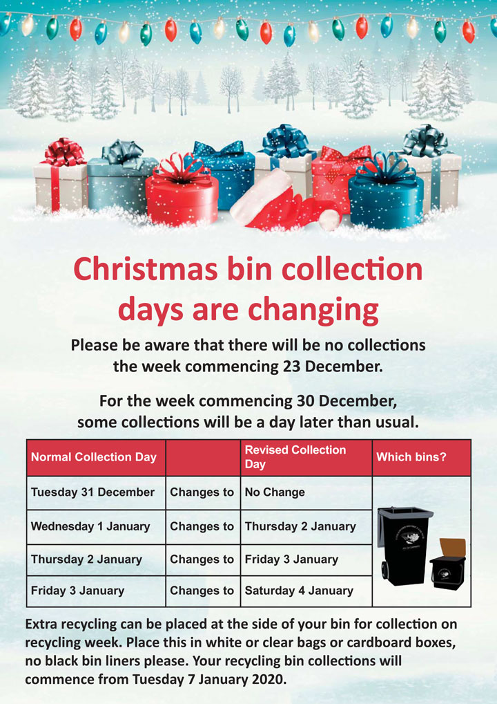 Christmas Bin Collection Day Changes